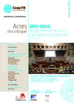 Défi 2020 : de l'Année internationale à la Décennie coopérative, 15 janvier 2013 / Coop FR (2013) - application/pdf