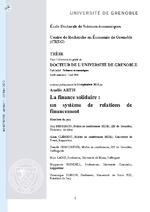 La finance solidaire / Artis, Amélie (2011) - application/pdf