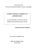 La mixité sociale au risque de la gentrification / Gallard Daujan, Stéphanie (2012) - application/pdf
