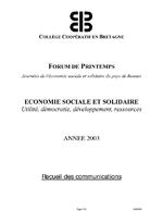 Economie sociale et solidaire / Collège coopératif en Bretagne (Rennes) (2003) - application/pdf