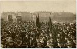 Congrès socialiste de Lyon, (18-21 février 1912). En cortège, les délégués se rendent de la place Bellecour au siège du congrès - image/jpeg