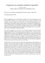 Coopérative, une entreprise socialement responsable ? / Liret, Pierre (2012) - application/pdf