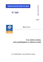 Les centres sociaux, entre participation et cohésion sociale / Cortesero, Régis (2013) - application/pdf