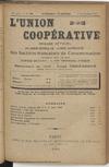 L'Union coopérative, A. 5, n° 63 (1900/09/01) - application/pdf