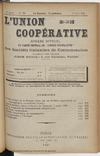 L'Union coopérative, A. 6, n° 74 (1901/08/01) - application/pdf