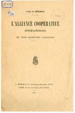 L'Alliance coopérative internationale et son dernier congrès / Seilhac, Léon de - application/pdf