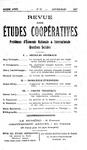 Revue des études coopératives n° 22 (janvier-mars 1927) - URL