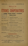 Revue des études coopératives. n° 25 (octobre-décembre 1927) - URL