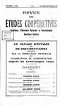 Revue des études coopératives. n° 33 (octobre-décembre 1929) - URL