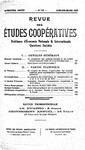 Revue des études coopératives. n° 58 (janvier-mars 1936) - URL