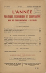 L'Année politique, économique et coopérative. n° 93 (janvier-février 1950) - URL